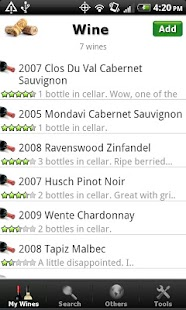 Wine + List, Ratings & Cellar- screenshot thumbnail