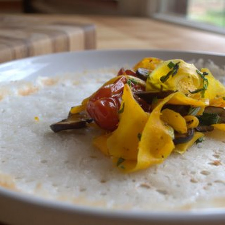 Savory Rice Crepes With Sauteed Vegetables