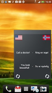 Learn Norwegian widget - screenshot thumbnail