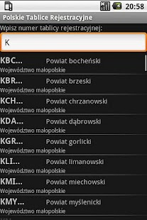 Registration plates of Poland - screenshot thumbnail