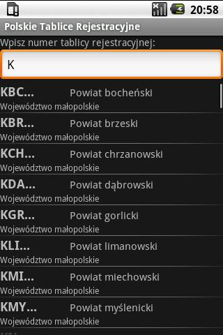 Registration plates of Poland - screenshot