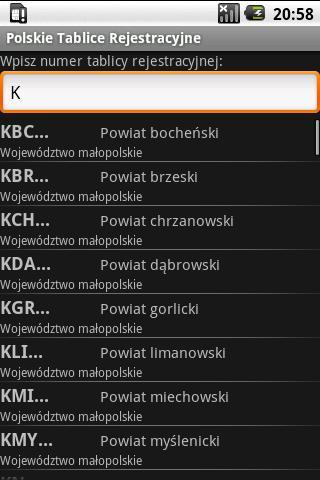 Registration plates of Poland - screenshot