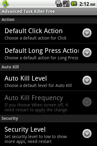 Advanced Task Killer Pro - screenshot