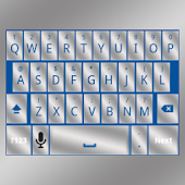 Blue Silver Keyboard Skin