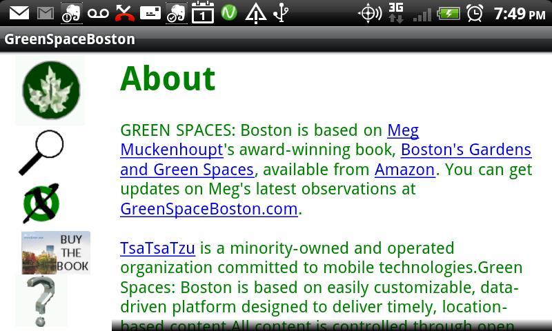 Green Spaces: Boston- screenshot