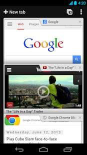 Navigateur Google Chrome - screenshot thumbnail