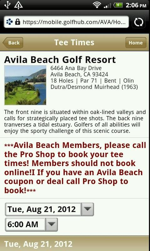 Avila Beach Golf Resort - screenshot