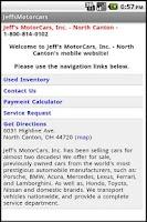 Screenshot of Jeff's Motor Cars