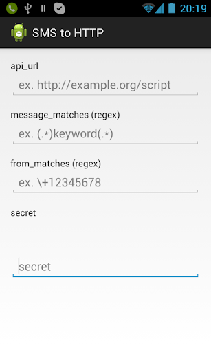 SMS to HTTP