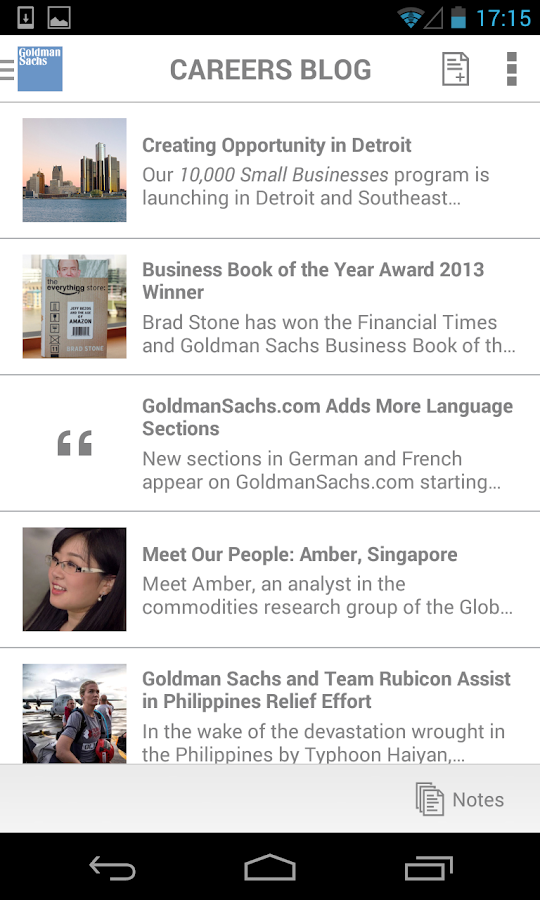 Goldman Sachs - Make an Impact - screenshot