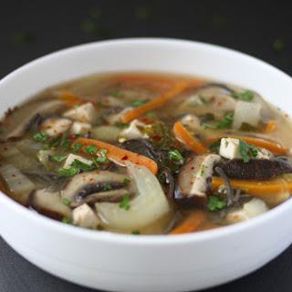 Veggie Noodle Miso Soup.
