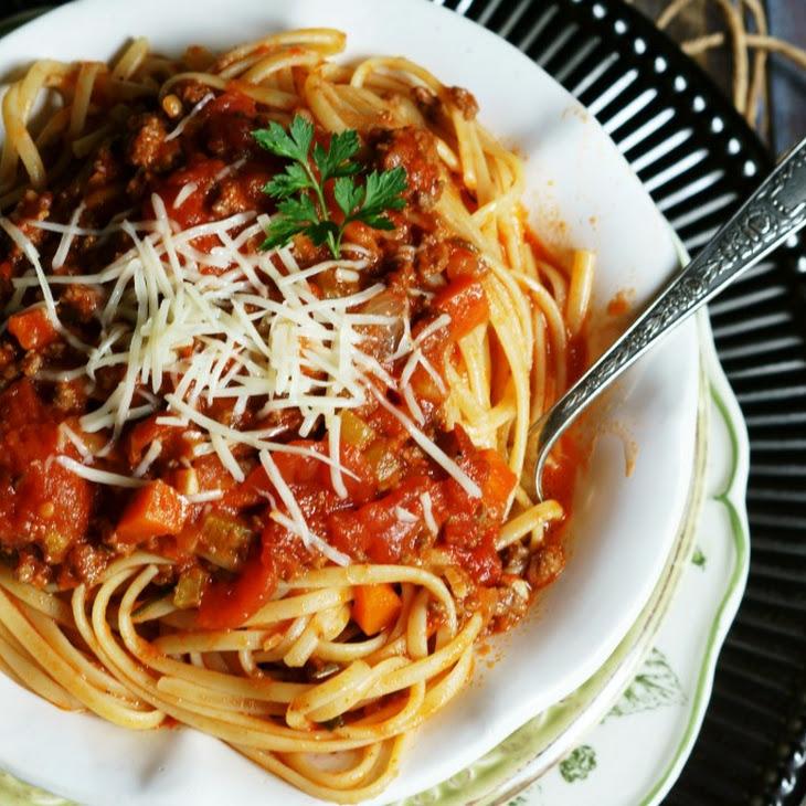 Crock Pot Spaghetti Bolognese