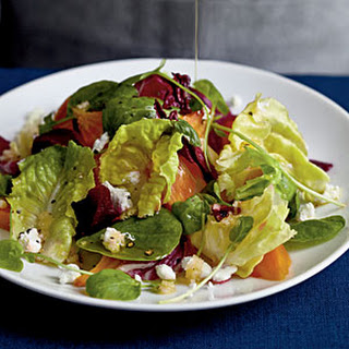 Winter Salad with Roasted Beets and Citrus Reduction Dressing.