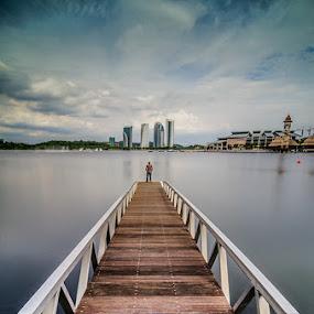 Leading Alone  by Najmi Rooslan - Buildings & Architecture Bridges & Suspended Structures ( putrajaya, malaysia, 10-stop, kl, big stopper, kuala lumpur, lee, uwa, nd, selangor, d7000, pullman, nikon, tokina )