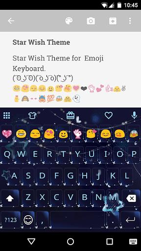 Star Wish Emoji Keyboard Theme