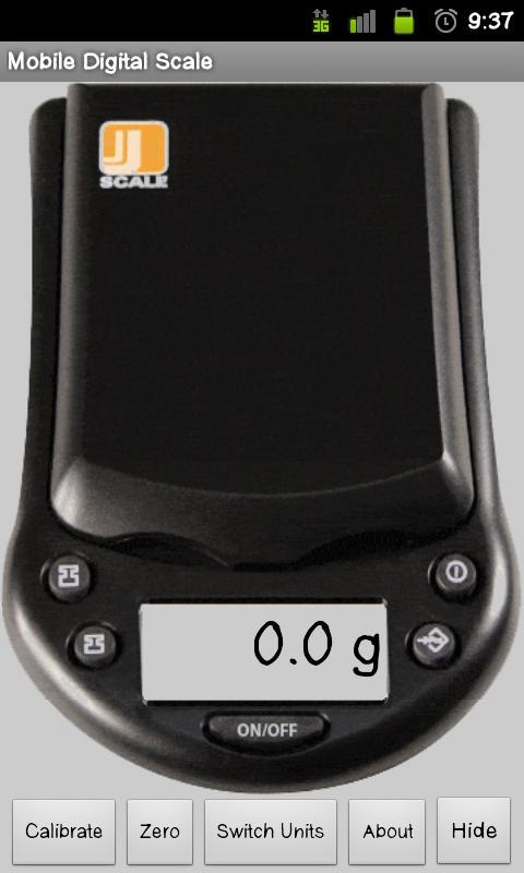 Mobile Digital Scale - screenshot