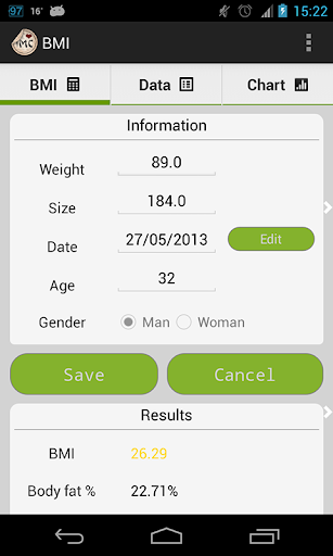 BMI Weight tool
