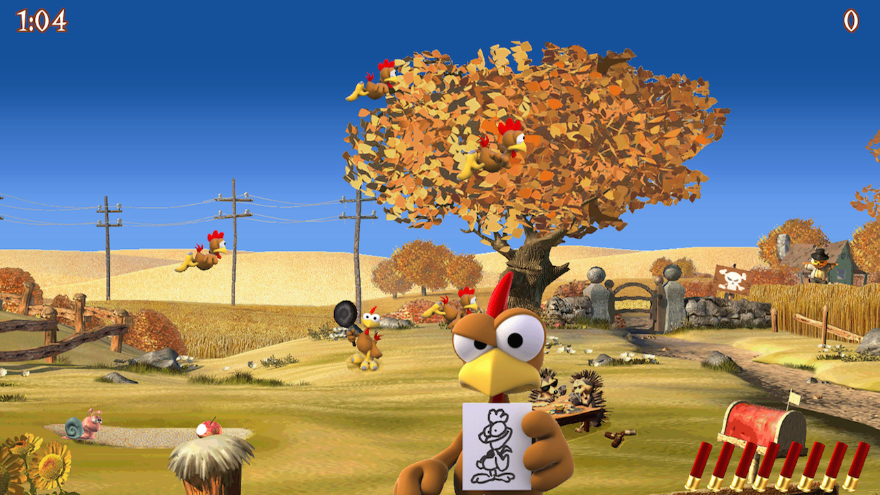 Moorhuhn Deluxe- Crazy Chicken- screenshot