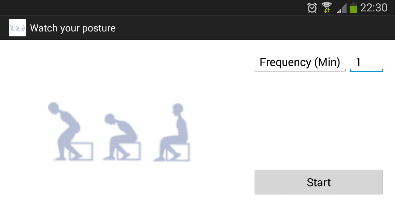 Watch your posture- screenshot