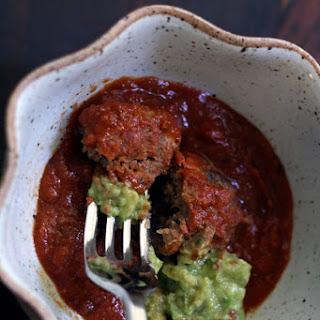 Paleo Chipotle Meatballs with Guacamole