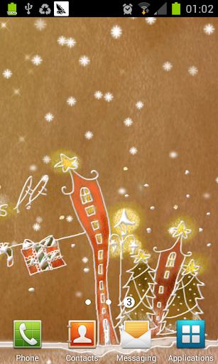 聖誕節粉彩動態壁紙
