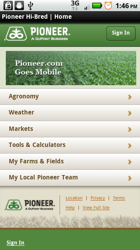 Mobile Pioneer.com - screenshot