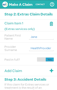 HIF SmartClaim- screenshot thumbnail