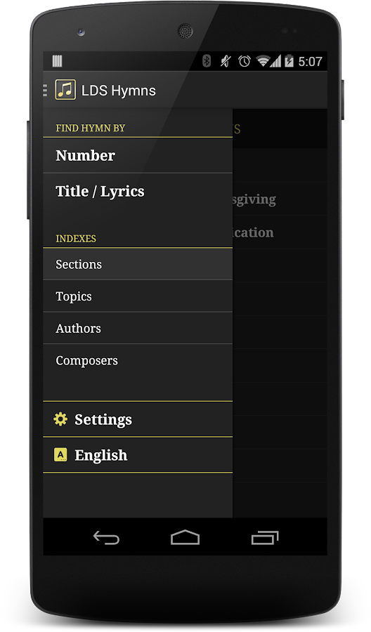 LDS Hymns with Notes- screenshot