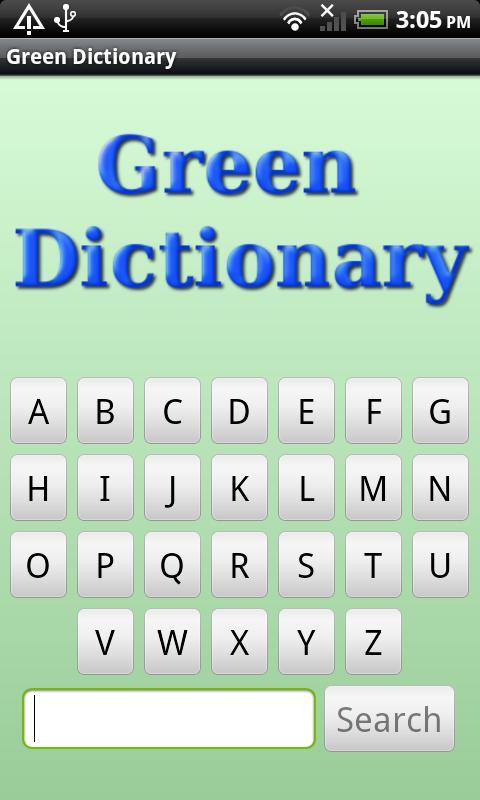 Eco & Green Dictionary- screenshot