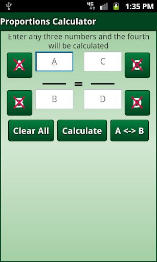 Proportions Calculator