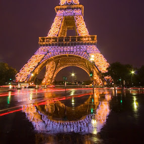 Eiffel Tower, Paris by Gale Perry - Buildings & Architecture Public & Historical ( , city at night, street at night, park at night, nightlife, night life, nighttime in the city )