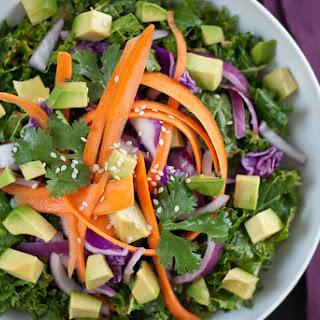 Asian Raw Kale Salad.