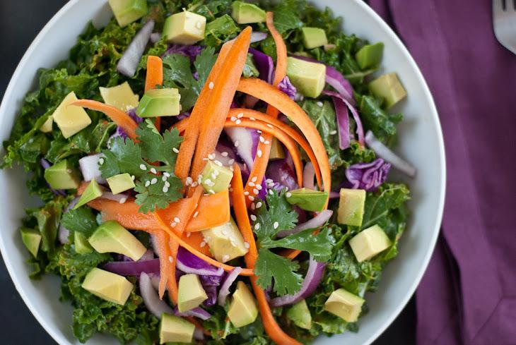 Asian Raw Kale Salad Recipe