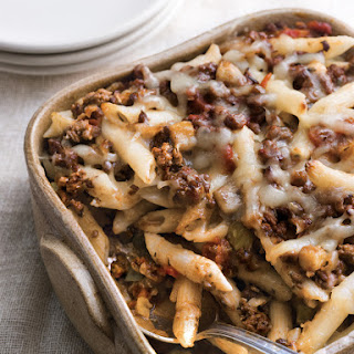 Baked Penne with Lamb, Eggplant and Fontina.