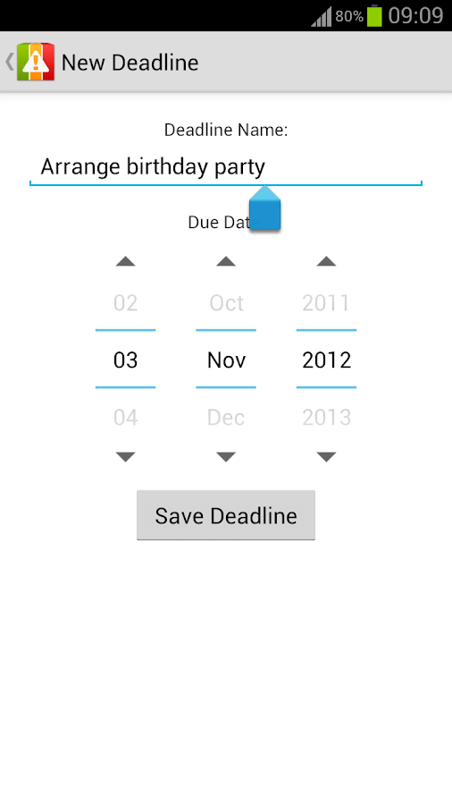 Deadlines Reminder - screenshot