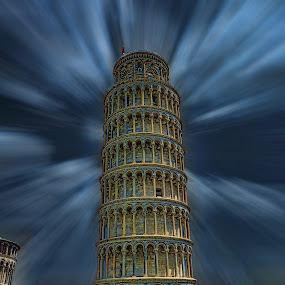Torre pendente by Stefano Landenna - Buildings & Architecture Public & Historical ( tower, hdr, pisa, italy )