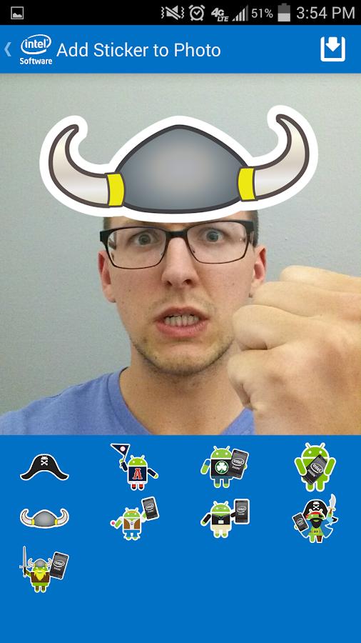 Intel® Selfie App for Android - screenshot