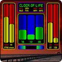 Clock of Life (red sunset) LWP icon