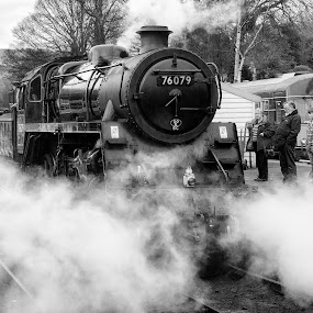 76079 by Martin Tyson - Transportation Trains ( north yorkshire moors, track, north, heritage, historic, grosmont, railway, yorkshire, transport, moors, train, 76079, nymr, steam )
