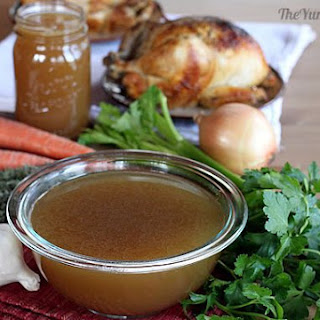 Chicken Bone Broth in A Slow Cooker.