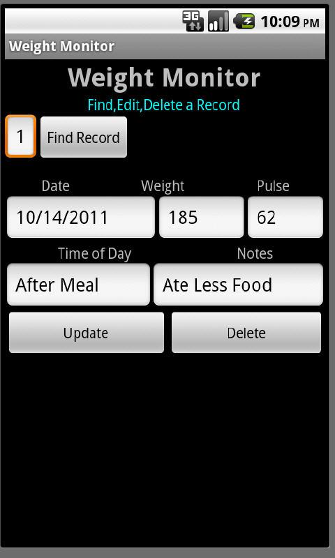 Weight Monitor- screenshot