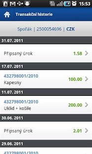 Fio banka Smartbanking – miniatura snímku obrazovky