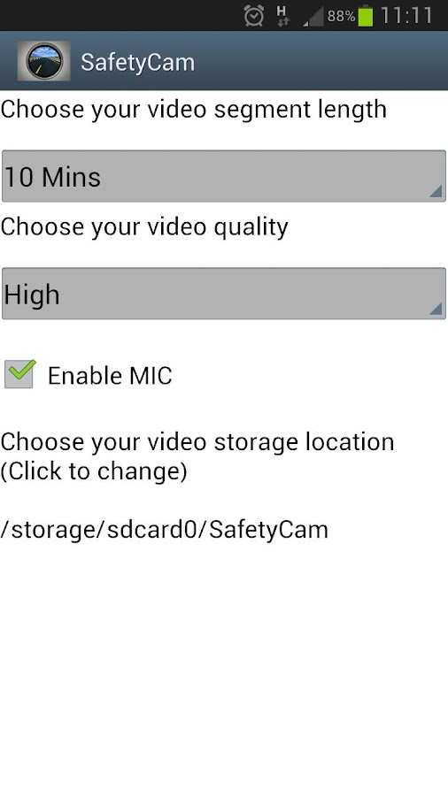 SafetyCam- screenshot