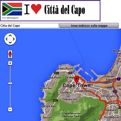 Città del Capo map