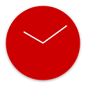 Flat design clock R -MeClock icon