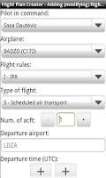 Screenshot of Flight Plan Creator