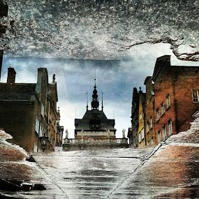 GDANSK AFTER RAIN by Morgentau ;) - Buildings & Architecture Public & Historical ( zabytki, gdańsk, długi targ, polska, danzig, miasto, deszcz, ulica, trójmiasto, kałuża,  )