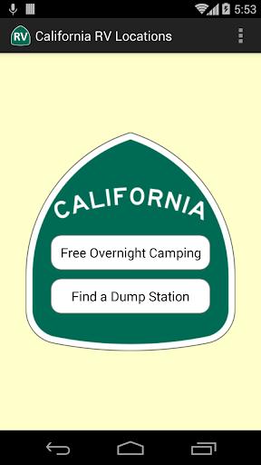 California RV Locations
