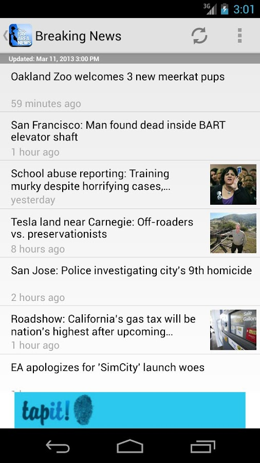 Bay Area News - screenshot
