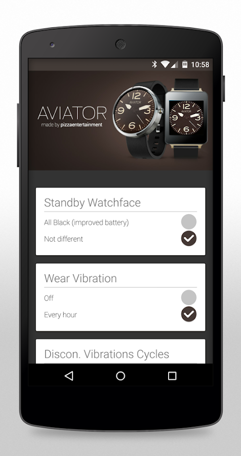 Aviator HD Watch Face- screenshot